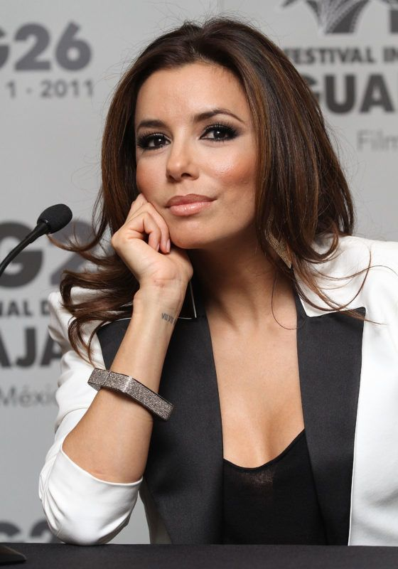 """GUADALAJARA, MEXICO - MARCH 26:  Actress Eva Longoria attends the press conference of the """"The Harvest"""" at the 26th Edition of the Guadalajara International Film Festival on March 26, 2011 in Guadalajara, Mexico.  (Photo by Victor Chavez/WireImage)"""