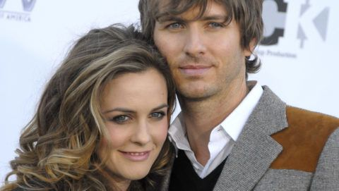 Actress Alicia Silverstone and Christopher Jarecki arrive at the Conde Nast Media Group's 2007 Movies Rock at the Kodak Theater on December 2, 2007 in Hollywood, California.