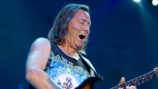 SARNIA, ON - JULY 14:  Dave Murray of Iron Maiden performs at Rogers Bayfest in Sarnia, ONT Canada on July 14, 2012 in Sarnia, Canada.  (Photo by Scott Legato/Getty Images)