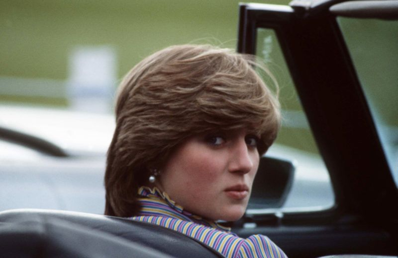 WINDSOR - JUNE 16:  Lady Diana Spencer attends a polo match at Windsor Great Park following a day at Royal Ascot on June 16, 1981 in Windsor, England. (Photo by Anwar Hussein/Getty Images)