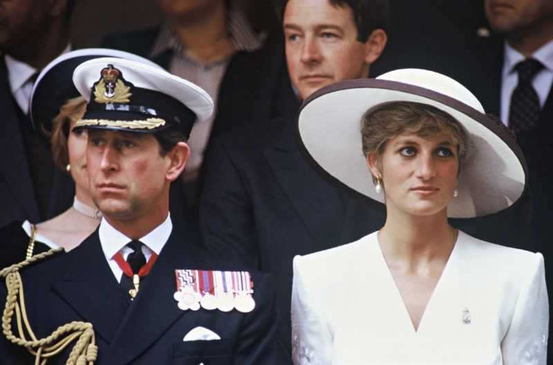 LONDON - JUNE 01 : Diana, Princess of Wales an Prince Charles, Prince of Wales attend the Gulf War Victory Parade on June 01, 1991 in London, England.  (Photo by Anwar Hussein/Getty Images)