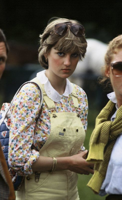 WINDSOR - JULY 12:  Lady Diana Spencer, wearing dungarees, attends a polo match at Windsor Great Park on July 12, 1981 in Windsor, England. (Photo by Anwar Hussein/Getty Images)