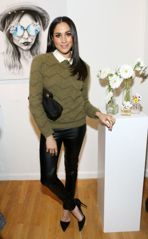 NEW YORK, NY - FEBRUARY 06:  Actress Meghan Markle attends the Marc Jacobs Daisy Chain Tweet Pop Up Shop Party at Marc Jacobs Pop Up Shop on February 6, 2014 in New York City.  (Photo by Bennett Raglin/Getty Images)