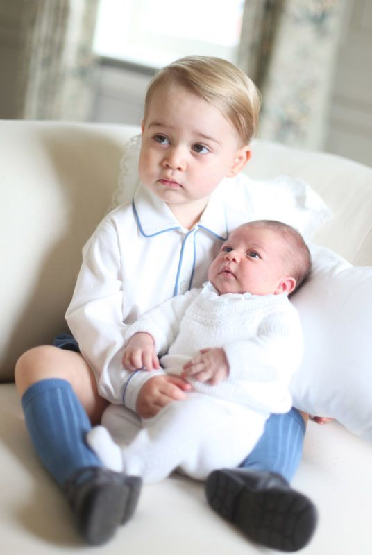 ANMER, ENGLAND - MAY 2015: In this undated handout image released by the Duke and Duchess of Cambridge, Prince George and Princess Charlotte at Anmer Hall in mid-May in Norfolk, England. (Photo by HRH The Duchess of Cambridge via Getty Images)  NEWS EDITORIAL USE ONLY. NO COMMERCIAL USE (including any use in merchandising, advertising or any other non-editorial use including, for example, calendars, books and supplements). This photograph is provided to you strictly on condition that you will make no charge for the supply, release or publication of it and that these conditions and restrictions will apply (and that you will pass these on) to any organisation to whom you supply it. All other requests for use should be directed to the Press Office at Kensington Palace in writing.