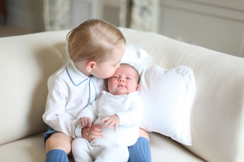 AMMER, ENGLAND - MAY 2015: In this undated handout image released by the Duke and Duchess of Cambridge, Prince George and Princess Charlotte at Anmer Hall in mid-May in Norfolk, England. (Photo by HRH The Duchess of Cambridge via Getty Images)  NEWS EDITORIAL USE ONLY. NO COMMERCIAL USE (including any use in merchandising, advertising or any other non-editorial use including, for example, calendars, books and supplements). This photograph is provided to you strictly on condition that you will make no charge for the supply, release or publication of it and that these conditions and restrictions will apply (and that you will pass these on) to any organisation to whom you supply it. All other requests for use should be directed to the Press Office at Kensington Palace in writing.