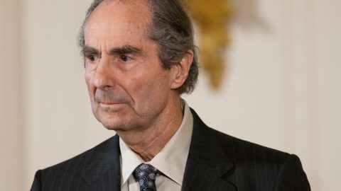 Novelist Philip Roth, during a ceremony at the White House, before President Barack Obama presented him with a 2010 National Humanities Medal. (Photo by Brooks Kraft LLC/Corbis via Getty Images)