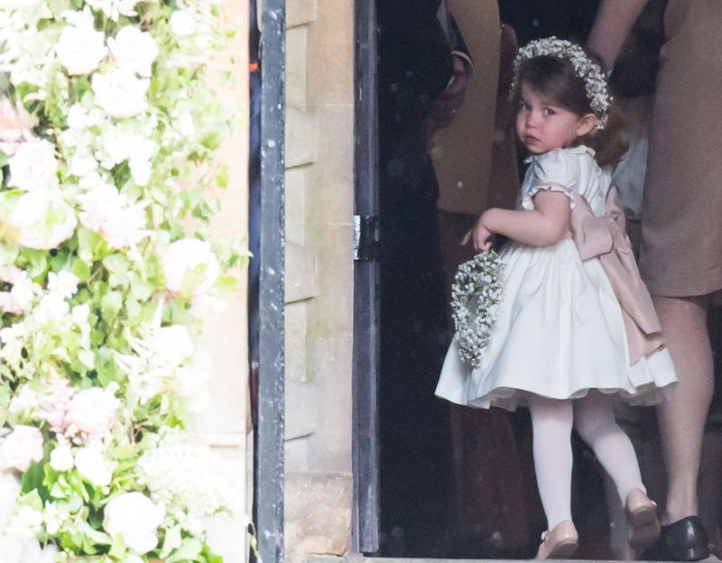 ENGLEFIELD GREEN, ENGLAND - MAY 20:  Princess Charlotte of Cambridge attends the wedding Of Pippa Middleton and James Matthews at St Mark's Church on May 20, 2017 in Englefield Green, England.  (Photo by Samir Hussein/Samir Hussein/WireImage)