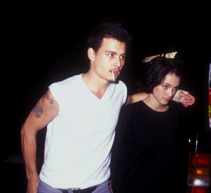 Johnny Depp and Winona Ryder (Photo by Barry King/WireImage)