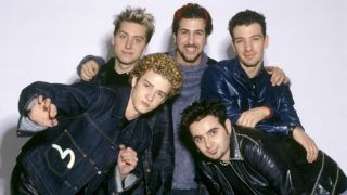 LOS ANGELES, CA - OCTOBER 27:  Justin Timberlake, Lance Bass, Joey Fatone, JC Chasez and Chris Kirkpatrick of Nsync pose for a photoshoot circa 1999 in New York City.  (Photo by L. Busacca/WireImage)  *** Local Caption ***