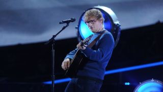 NEW YORK, NY - JANUARY 30:  Ed Sheeran performs during the Elton John: I'm Still Standing - A Grammy Salute at The Theater at Madison Square Garden on January 30, 2018 in New York City.  (Photo by Brad Barket/Getty Images)