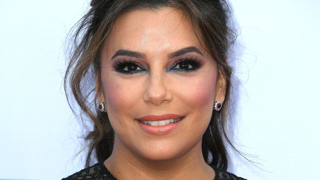 """WESTWOOD, CA - APRIL 30:  Eva Longoria arrives at the Premiere Of Lionsgate And Pantelion Film's """"Overboard""""  at Regency Village Theatre on April 30, 2018 in Westwood, California.  (Photo by Steve Granitz/WireImage)"""