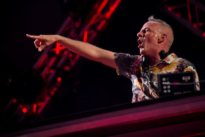 ROME,ITALY -  MAY 1:    Fatboy Slim performs on stage on May 1, 2018 in Rome, Italy.   (Photo by Roberto Panucci/Corbis via Getty Images)