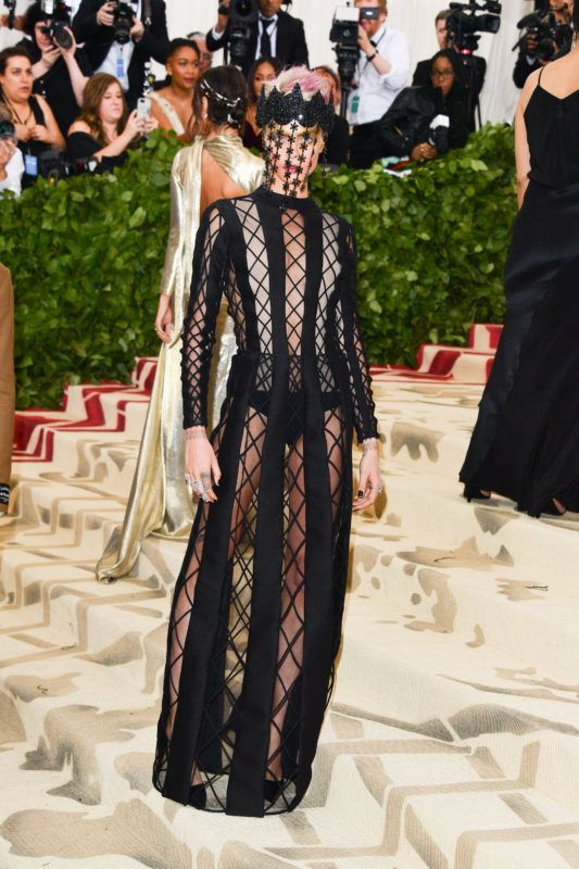 NEW YORK, NY - MAY 07:  Cara Delevingne attends the Heavenly Bodies: Fashion & The Catholic Imagination Costume Institute Gala at Metropolitan Museum of Art on May 7, 2018 in New York City.  (Photo by George Pimentel/Getty Images)