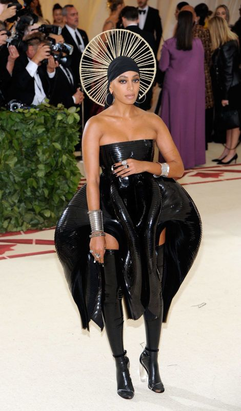 NEW YORK, NY - MAY 07:  Solange Knowles attends Heavenly Bodies: Fashion & The Catholic Imagination Costume Institute Gala a  the Metropolitan Museum of Art in New York City.  (Photo by Rabbani and Solimene Photography/Getty Images)
