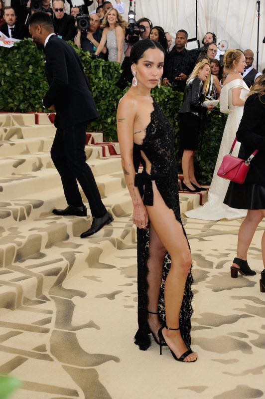 NEW YORK, NY - MAY 07:  Zoe Kravitz attends Heavenly Bodies: Fashion & The Catholic Imagination Costume Institute Gala a  the Metropolitan Museum of Art in New York City.  (Photo by Rabbani and Solimene Photography/Getty Images)