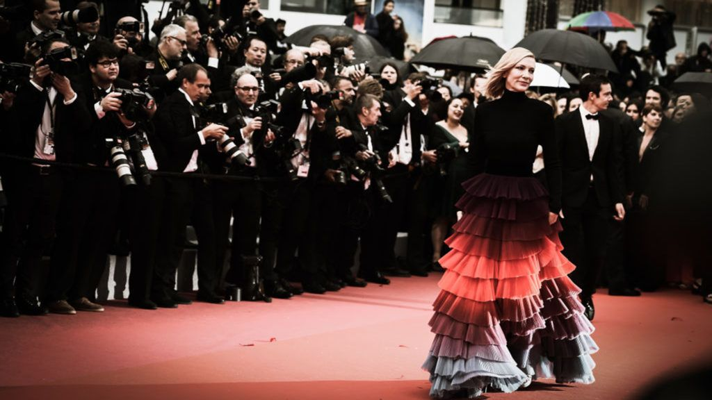 CANNES, FRANCE - MAY 14:  (EDITORS NOTE: Image has been digitally retouched) Cate Blanchett attends the screening of the film 'BlacKkKlansman' during the 71st annual Cannes Film Festival on May 14, 2018 in Cannes, France.  (Photo by Vittorio Zunino Celotto/Getty Images for Kering)