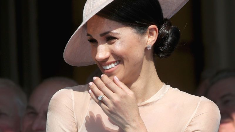 LONDON, ENGLAND - MAY 22:  (EDITORS NOTE: Retransmission of #961424164 with alternate crop.) Meghan, Duchess of Sussex attends The Prince of Wales' 70th Birthday Patronage Celebration held at Buckingham Palace on May 22, 2018 in London, England.  (Photo by Chris Jackson/Chris Jackson/Getty Images)