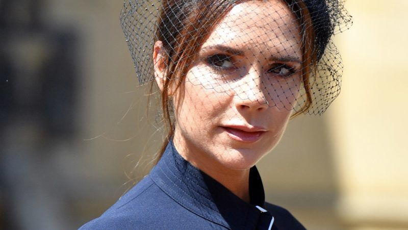 WINDSOR, UNITED KINGDOM - MAY 19: (EMBARGOED FOR PUBLICATION IN UK NEWSPAPERS UNTIL 24 HOURS AFTER CREATE DATE AND TIME) Victoria Beckham attends the wedding of Prince Harry to Ms Meghan Markle at St George's Chapel, Windsor Castle on May 19, 2018 in Windsor, England. Prince Henry Charles Albert David of Wales marries Ms. Meghan Markle in a service at St George's Chapel inside the grounds of Windsor Castle. Among the guests were 2200 members of the public, the royal family and Ms. Markle's Mother Doria Ragland. (Photo by Pool/Max Mumby/Getty Images)