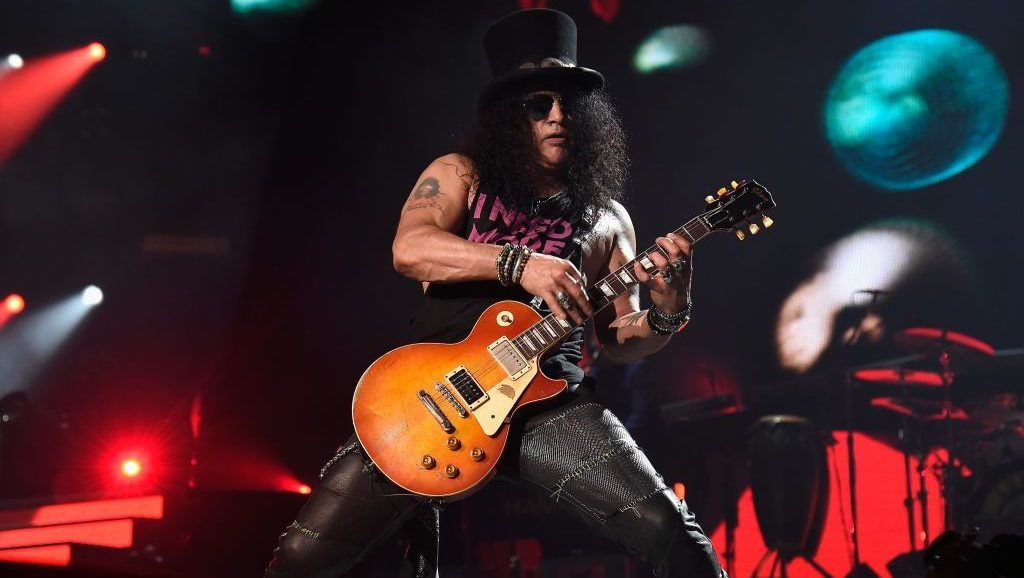 """of Guns N' Roses perform onstage during the """"Not In This Lifetime..."""" Tour  at Madison Square Garden on October 11, 2017 in New York City."""