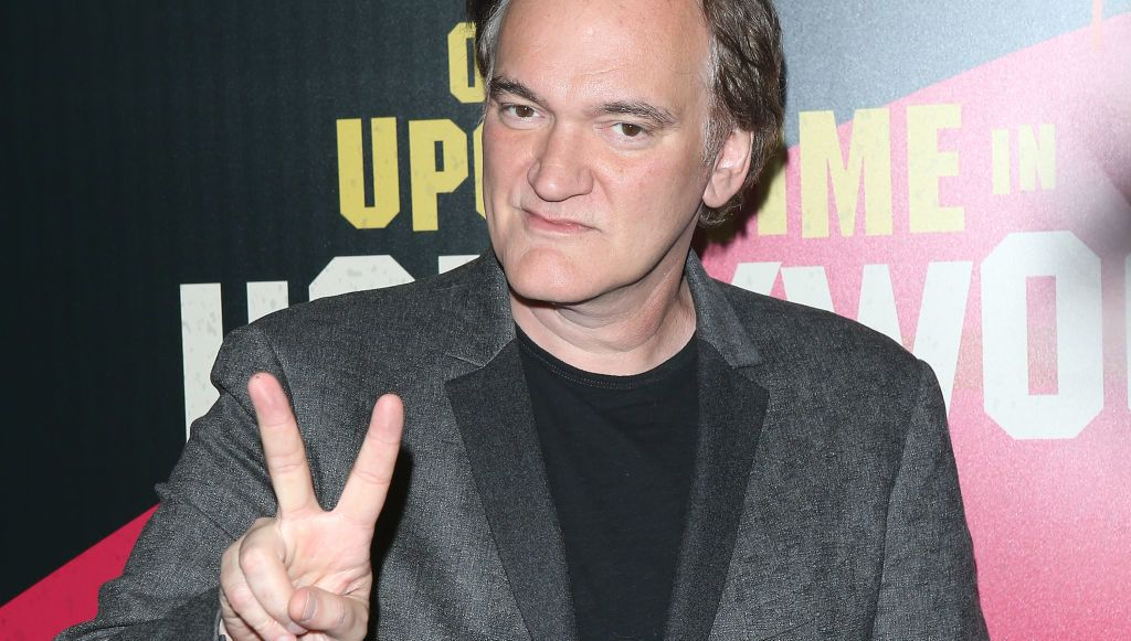 LAS VEGAS, NV - APRIL 23:  Quentin Tarantino attends the 2018 CinemaCon - Sony Pictures Entertainment exclusive presentation 2018 Summer & Beyond photo op held at The Colosseum at Caesars Palace on April 23, 2018 in Las Vegas, Nevada.  (Photo by Michael Tran/FilmMagic)