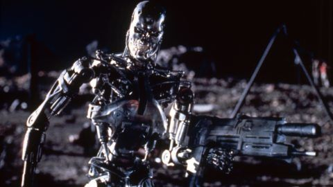 Terminator 2: Judgment Day  Year : 1991 USA Director : James Cameron . It is forbidden to reproduce the photograph out of context of the promotion of the film. It must be credited to the Film Company and/or the photographer assigned by or authorized by/allowed on the set by the Film Company. Restricted to Editorial Use. Photo12 does not grant publicity rights of the persons represented.