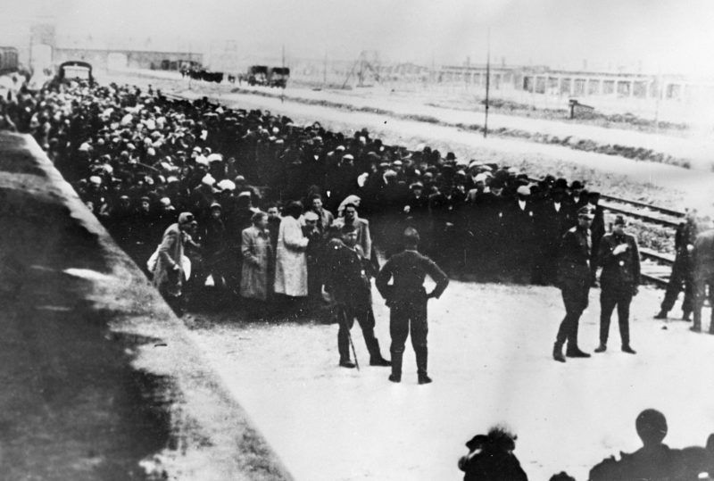 The first prisoners on the way to Osventsim (Auschwitz) death camp established on April 27, 1940 by order of Heinrich Himmler.