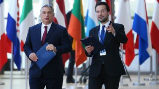 BRUSSELS, BELGIUM - JUNE 28: Prime Minister of Hungary Viktor Orban attends the EU Leaders summit in Brussels, Belgium, 28 June 2018. The summit, which gathers 28 EU leaders, is to focus on the migrant issue, the relations with the U.S., cooperation in defense and security, and the economic and monetary union.  Dursun Aydemir / Anadolu Agency