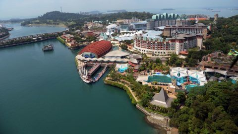 The view of Resorts World Sentosa island in Singapore is pictured on June 6, 2018.  A highly anticipated meeting between US president Donald Trump and North Korean leader Kim Jong Un will take place at a resort island off Southern Singapore, the White House confirmed on June 5, 2018.   / AFP PHOTO / Roslan RAHMAN