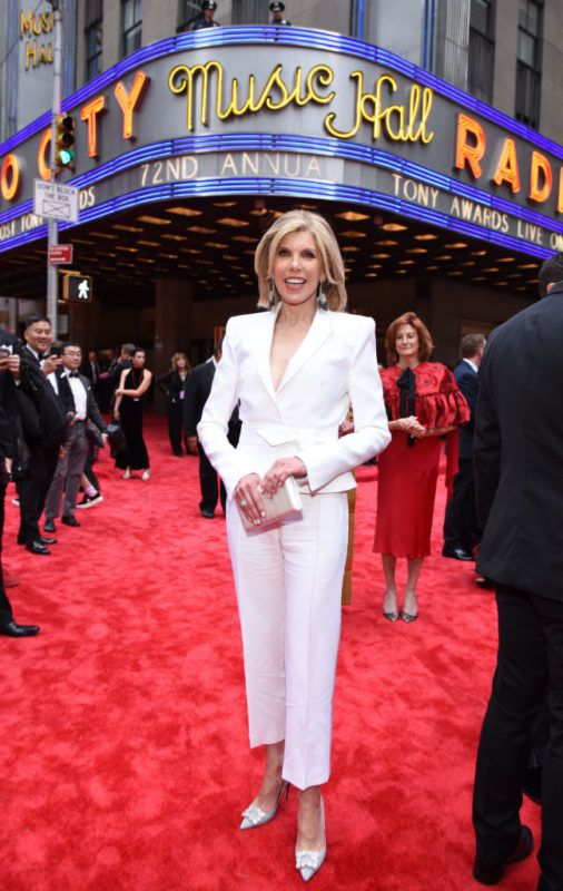 NEW YORK, NY - JUNE 10:  Christine Baranski attends the 72nd Annual Tony Awards at Radio City Music Hall on June 10, 2018 in New York City.  (Photo by Jenny Anderson/Getty Images for Tony Awards Productions)