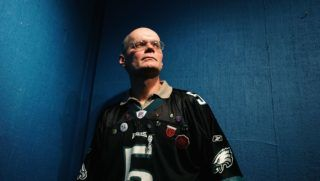 """PARK CITY, UTAH - JANUARY 23:  Nick Yarris (23 years Wrongfully Imprisoned) pose for a portrait session after the """"After Innocence"""" interviews at the Starbucks Sundance Interview Headquarters during the 2005 Sundance Film Festival on January 23, 2005 in Park City, Utah. (Photo by Frazer Harrison/Getty Images)"""