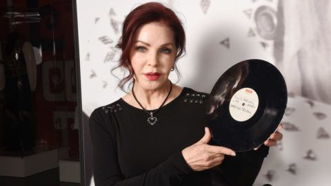 LONDON, ENGLAND - NOVEMBER 29:  Priscilla Presley visits the Elvis on Tour exhibition at the O2 Arena on November 29, 2017 in London, England. The exhibition is on show until February 2018.  (Photo by Dave J Hogan/Dave J Hogan/Getty Images)