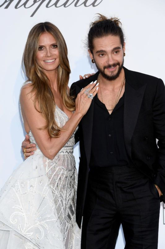 CAP D'ANTIBES, FRANCE - MAY 17:  Heidi Klum and Tom Kaulitz arrive at the amfAR Gala Cannes 2018 at Hotel du Cap-Eden-Roc on May 17, 2018 in Cap d'Antibes, France.  (Photo by Dominique Charriau/WireImage)
