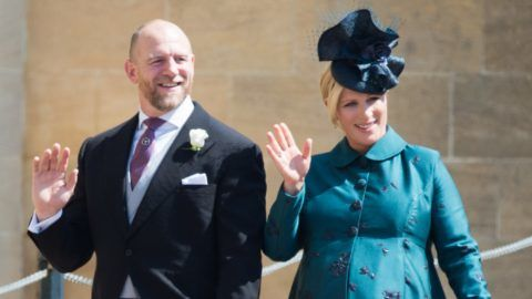 WINDSOR, ENGLAND - MAY 19:  Mike Tindall and Zara Tindall attend the wedding of Prince Harry to Ms Meghan Markle at St George's Chapel, Windsor Castle on May 19, 2018 in Windsor, England. Prince Henry Charles Albert David of Wales marries Ms. Meghan Markle in a service at St George's Chapel inside the grounds of Windsor Castle. Among the guests were 2200 members of the public, the royal family and Ms. Markle's Mother Doria Ragland.  (Photo by Pool/Samir Hussein/WireImage)