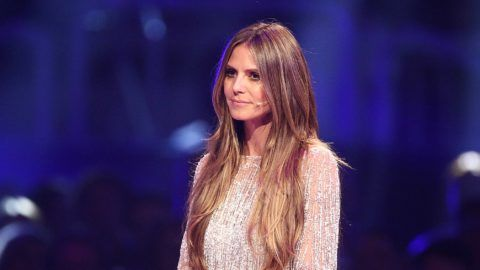 DUESSELDORF, GERMANY - MAY 24: Heidi Klum during the Germany's Next Topmodel Finals  at ISS Dome on May 24, 2018 in Duesseldorf, Germany. (Photo by Florian Ebener/Getty Images)