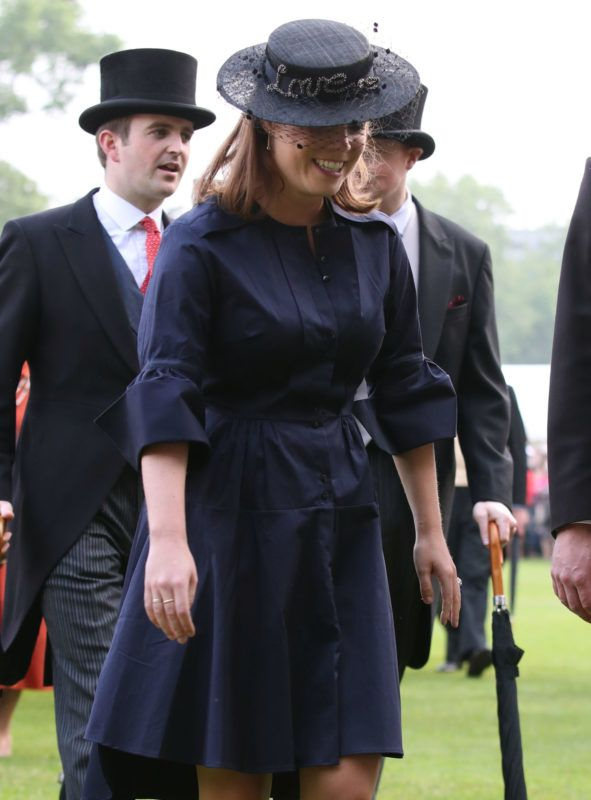 LONDON, ENGLAND - MAY 31:  Princess Eugenie attends a Garden Party at Buckingham Palace on May 31, 2018 in London, England.  (Photo by Yui Mok - WPA Pool/Getty Images)