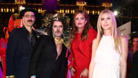 VIENNA, AUSTRIA - JUNE 02:  Joern Weisbrodt, Rufus Wainwright, Caitlyn Jenner and Sophia Hutchins attend the LIFE+ Solidarity Gala prior to the Life Ball at City Hall on June 2, 2018 in Vienna, Austria. The Life Ball, an annual charity event raising funds for HIV & AIDS projects, celebrates its 25th anniversary this year at Vienna's City Hall.  (Photo by Thomas Niedermueller/Life Ball 2018/Getty Images)