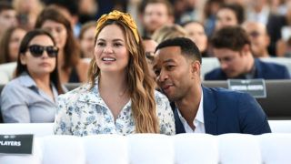 LOS ANGELES, CA - JUNE 11:  Chrissy Teigen and John Legend attends the Fourth Annual Los Angeles Dodgers Foundation Blue Diamond Gala at Dodger Stadium on June 11, 2018 in Los Angeles, California.  (Photo by Emma McIntyre/Getty Images for Los Angeles Dodgers Foundation )