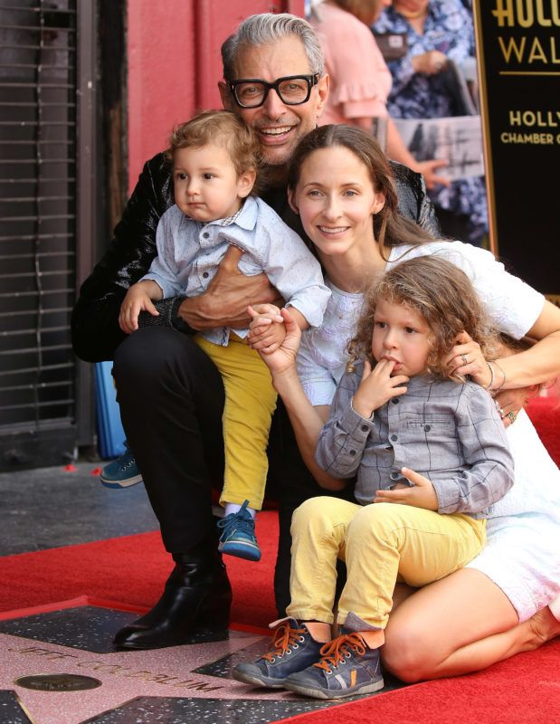 HOLLYWOOD, CA - JUNE 14:  Jeff Goldblum with wife, Emilie Livingston and their children, River Joe Goldblum and Charlie Ocean Goldblum attend the ceremony honoring Jeff Goldblum with a Star on The Hollywood Walk of Fame held on June 14, 2018 in Hollywood, California.  (Photo by Michael Tran/FilmMagic)