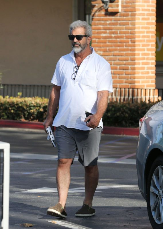 PREMIUM EXCLUSIVE Please contact X17 before any use of these exclusive photos - x17@x17agency.comWednesday, June 27, 2018 - Summer diet?! Mel Gibson stops by a CVS pharmacy in Calabasas to purchase a food scale. The A-list actor goes casual in a loose-fit white polo shirt and grey shorts and drives his environmentally conscious black Tesla. - ROL/X17online.com June 27, 2018