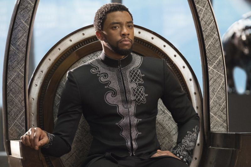 Black Panther Year : 2018 USA Director : Ryan Coogler Chadwick Boseman  Photo: Matt Kennedy. It is forbidden to reproduce the photograph out of context of the promotion of the film. It must be credited to the Film Company and/or the photographer assigned by or authorized by/allowed on the set by the Film Company. Restricted to Editorial Use. Photo12 does not grant publicity rights of the persons represented.