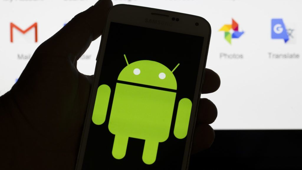 ANKARA, TURKEY - JULY 17 : Logo of Android mobile operating system seen displayed on a mobile with Google applications along with others in the background in Ankara, Turkey on July 17, 2018. Murat Kaynak / Anadolu Agency