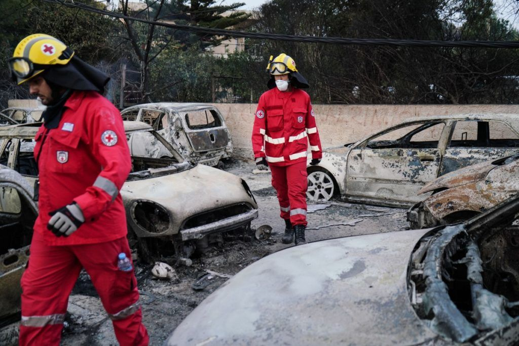 The next day of the wildfire in Mati, Nea Makri, about 30 km east of Athens, East Attica, July 24, 2018. Nick Paleologos / SOOC
