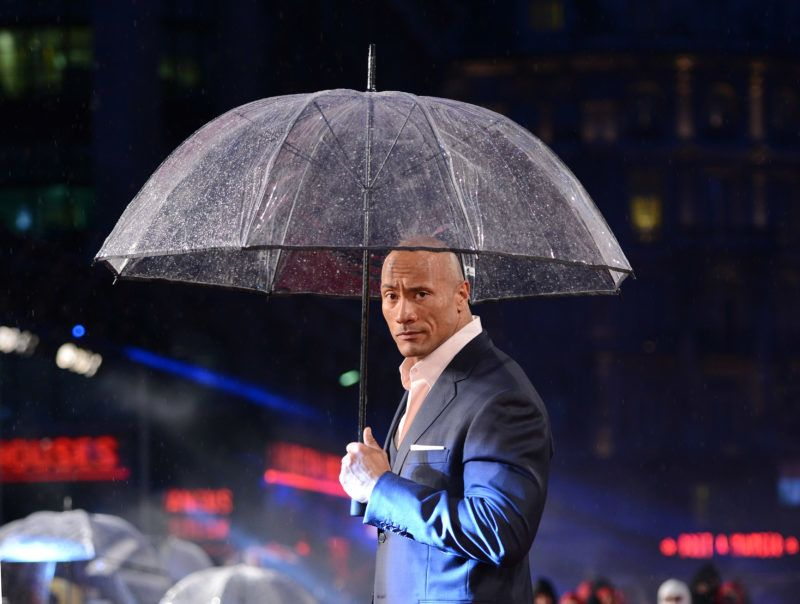 """LONDON, UNITED KINGDOM - MARCH 18: Dwayne Johnson attends the UK premiere of """"G.I. Joe: Retaliation"""" at Empire Leicester Square on March 18, 2013 in London, England. (Photo by Karwai Tang/Getty Images)"""