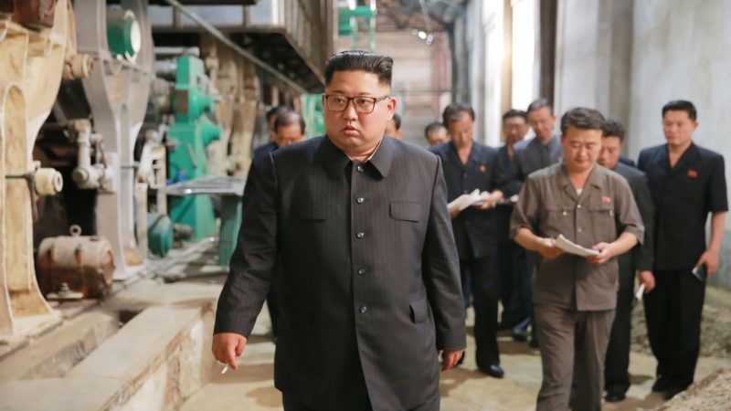 """This undated picture released from North Korea's official Korean Central News Agency (KCNA) on July 2, 2018 shows North Korean leader Kim Jong-Un (L) visiting the Sinuiju Chemical Fibre Mill. / AFP PHOTO / KCNA VIA KNS AND AFP PHOTO / - /  - South Korea OUT / REPUBLIC OF KOREA OUT   ---EDITORS NOTE--- RESTRICTED TO EDITORIAL USE - MANDATORY CREDIT """"AFP PHOTO/KCNA VIA KNS"""" - NO MARKETING NO ADVERTISING CAMPAIGNS - DISTRIBUTED AS A SERVICE TO CLIENTS THIS PICTURE WAS MADE AVAILABLE BY A THIRD PARTY. AFP CAN NOT INDEPENDENTLY VERIFY THE AUTHENTICITY, LOCATION, DATE AND CONTENT OF THIS IMAGE. THIS PHOTO IS DISTRIBUTED EXACTLY AS RECEIVED BY AFP.  /"""