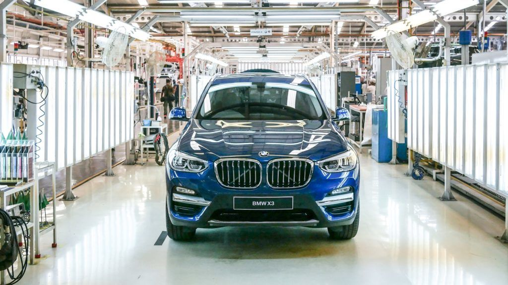 BMW X3 assembly at PT Gaya Motor manufacture in Jakarta, Indonesia on July 18, 2018. BMW X3 is a sports activity vehicle assembly by PT Gaya Motor in Indonesia since 2012 and ready to sell on August 2018 for IDR 1.009.000.000.  (Photo by Anton Raharjo/NurPhoto)