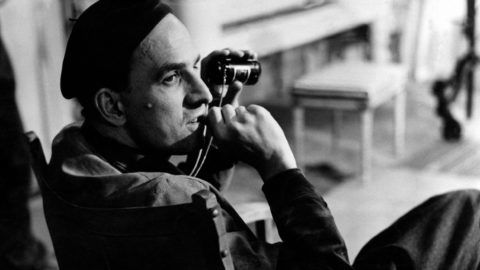 """(FILES) In this file photo taken in the 60' legendary Swedish filmmaker and theater director Ingmar Bergman is pictured during shooting a movie in Sweden.  Ingmar Bergman, one of the most distinguished filmmakers of his generation whose melancholic work is often tough to digest but celebrated, still captivates the audience as much as he puts off his critics. July 14, 2018 would have been his 100th birthday.   / AFP PHOTO / SCANPIX SWEDEN / Bonniers HYLEN / """"The erroneous mention[s] appearing in the metadata of this photo by Bonniers HYLEN has been modified in AFP systems in the following manner: [60'] instead of January 1, 1960]. Please immediately remove the erroneous mention[s] from all your online services and delete it (them) from your servers. If you have been authorized by AFP to distribute it (them) to third parties, please ensure that the same actions are carried out by them. Failure to promptly comply with these instructions will entail liability on your part for any continued or post notification usage. Therefore we thank you very much for all your attention and prompt action. We are sorry for the inconvenience this notification may cause and remain at your disposal for any further information you may require."""""""