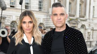 LONDON, ENGLAND - JULY 17:  Ayda Field and Robbie Williams attend the X Factor 2018 Show launch at Somerset House on July 17, 2018 in London, England.  (Photo by Karwai Tang/WireImage)
