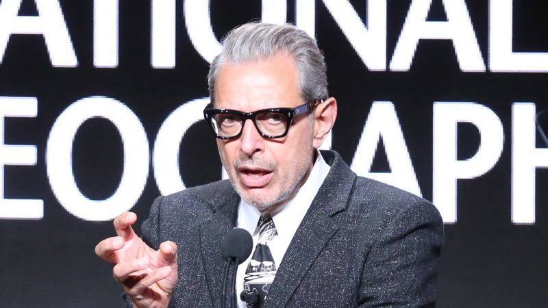 BEVERLY HILLS, CA - JULY 25:  Jeff Goldblum speaks onstage during the National Geographic portion of the Summer 2018 TCA Press Tour at The Beverly Hilton Hotelon July 25, 2018 in Beverly Hills, California  (Photo by Frederick M. Brown/Getty Images)