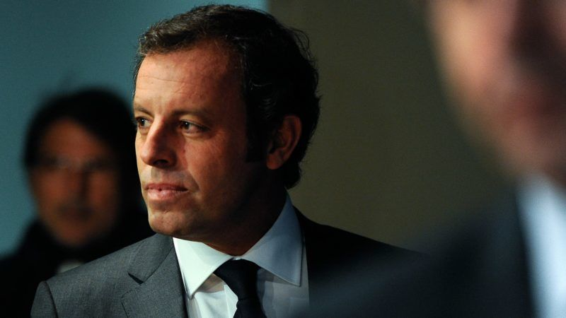BARCELONA, SPAIN - JANUARY 23:  FCB President Sandro Rosell arrives to the press conference announcing his resgination as FCB president on January 23, 2014 in Barcelona, Spain. FCB President Sandro Rosell is under investigation by a Spanish high court for the alleged misappropriation of funds  from the transfer of Neymar Jr. FCB Vice-President Josep Maria Bartomeu will replace Sandro Rosell as new FCB president.  (Photo by David Ramos/Getty Images)