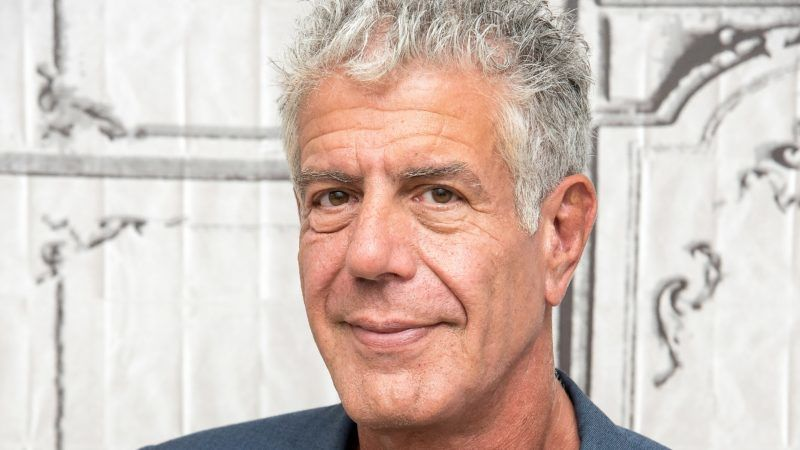 """NEW YORK, NY - NOVEMBER 02:  Anthony Bourdain visits the Build Series to discuss """"Raw Craft"""" at AOL HQ on November 2, 2016 in New York City.  (Photo by Mike Pont/WireImage)"""